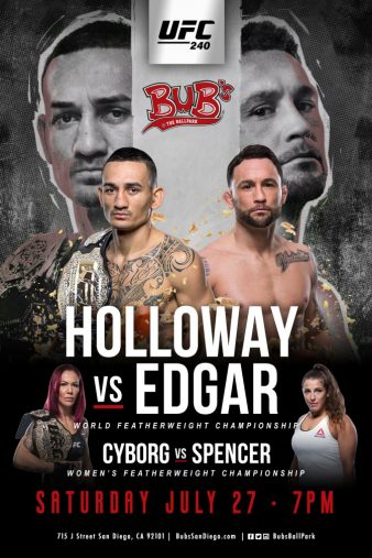 UFC 240 Holloway vs Edgar